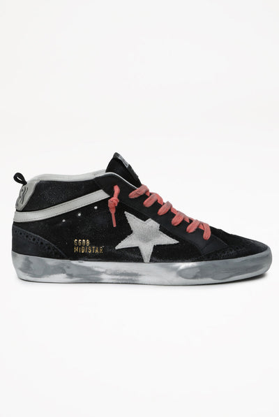 Golden Goose Mid Star Suede Upper Suede Star Leather Wave Sparkle