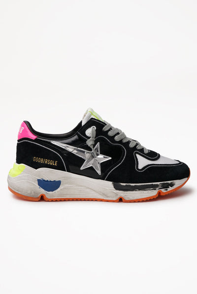 Golden Goose Running Sole Shiny Leather Upper 3D Star Leather Heel