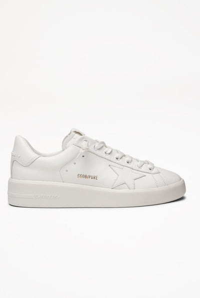 Sneakers Superstar White Leather-White Heel by Golden Goose
