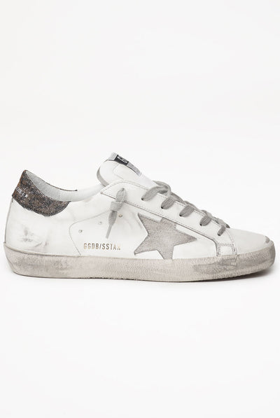 Golden Goose Superstar Leather Upper Suede Star Lurex Heel