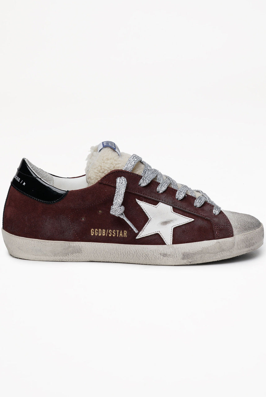 Golden Goose Superstar Suede Upper Leather Star Shearling Tongue - EU36 Brown