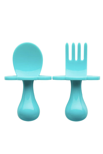 TEAL MY HEART Utensils by Grabease