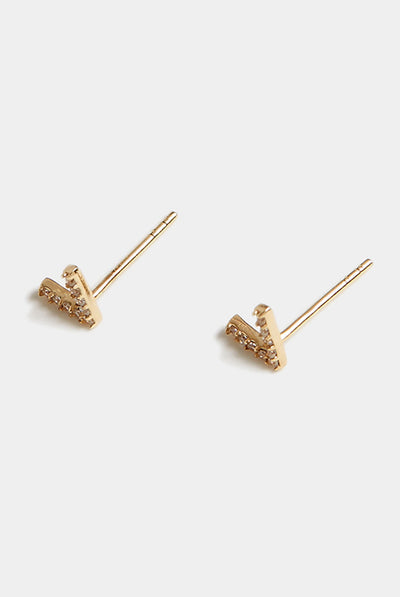 V Studs by Grace Chou