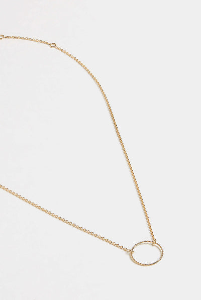 Rope Circle Necklace by Grace Chou
