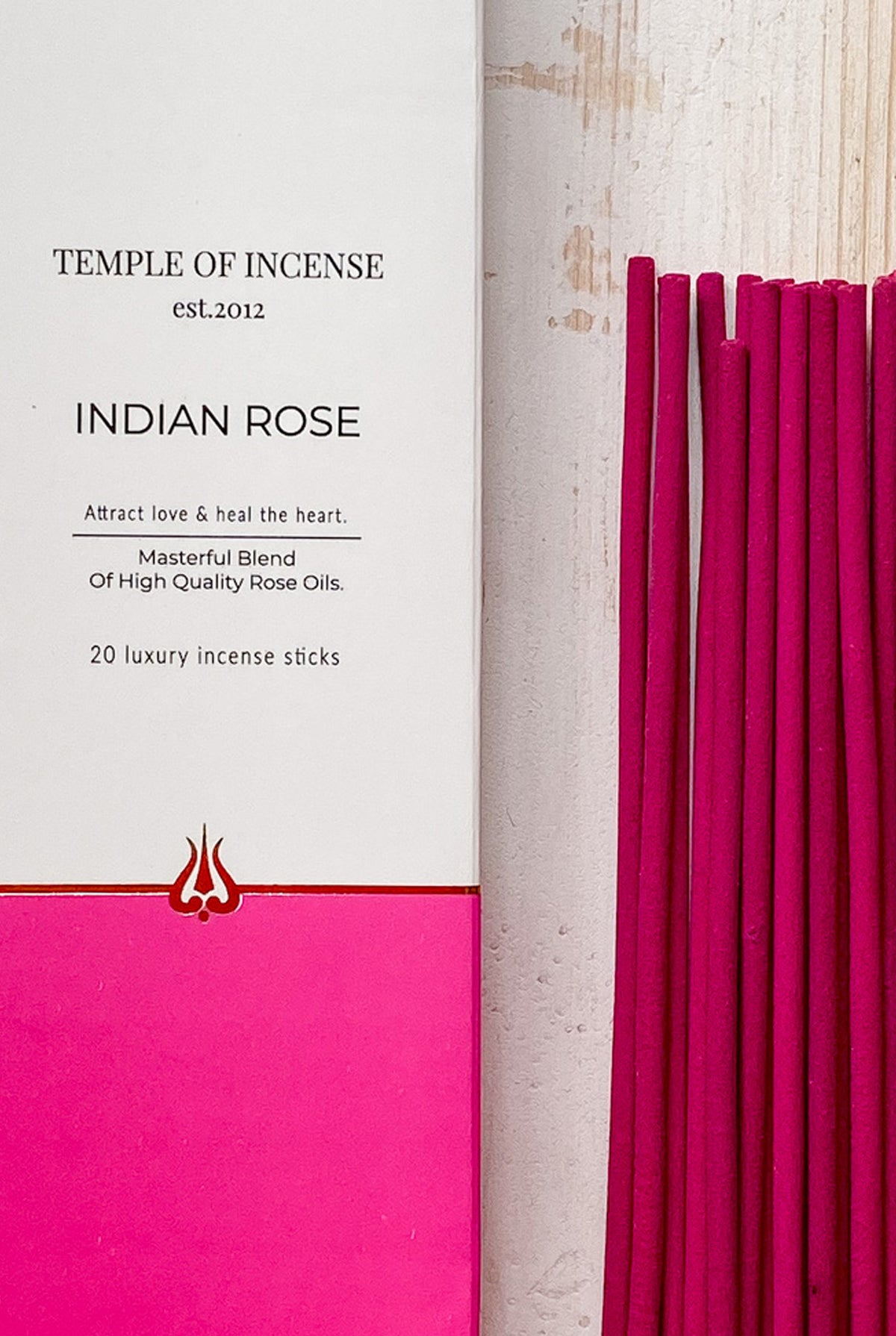 Temple of Incense Indian Rose Incense Sticks - One Size