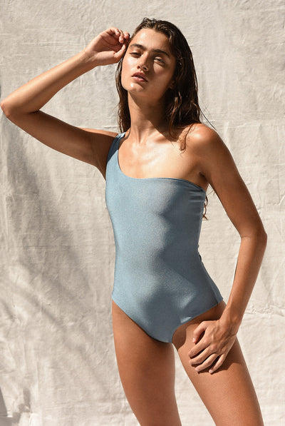 Apex One Piece Blue Sheen by Jade Swim