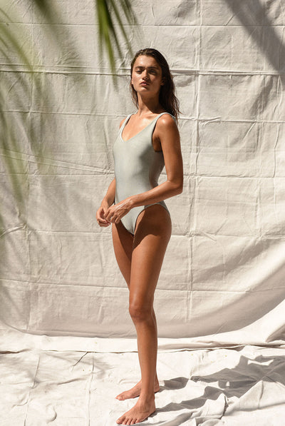 Contour One Piece Silver Sheen by Jade Swim