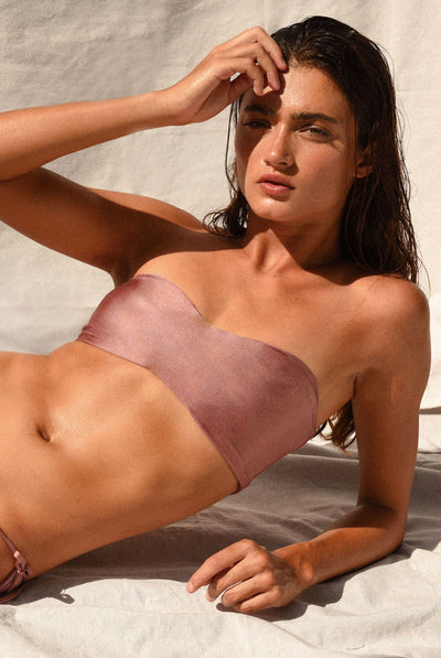 All Around Bandeau Mauve Sheen by jade swim