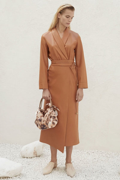 Emery Dress - Burnt Orange by Nanushka