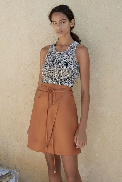 Sekoya Skirt - Burnt Orange