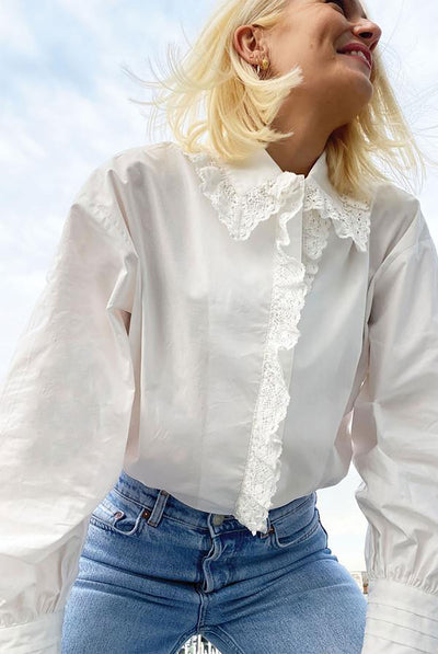 Never Fully Dressed Boxy Lace Shirt