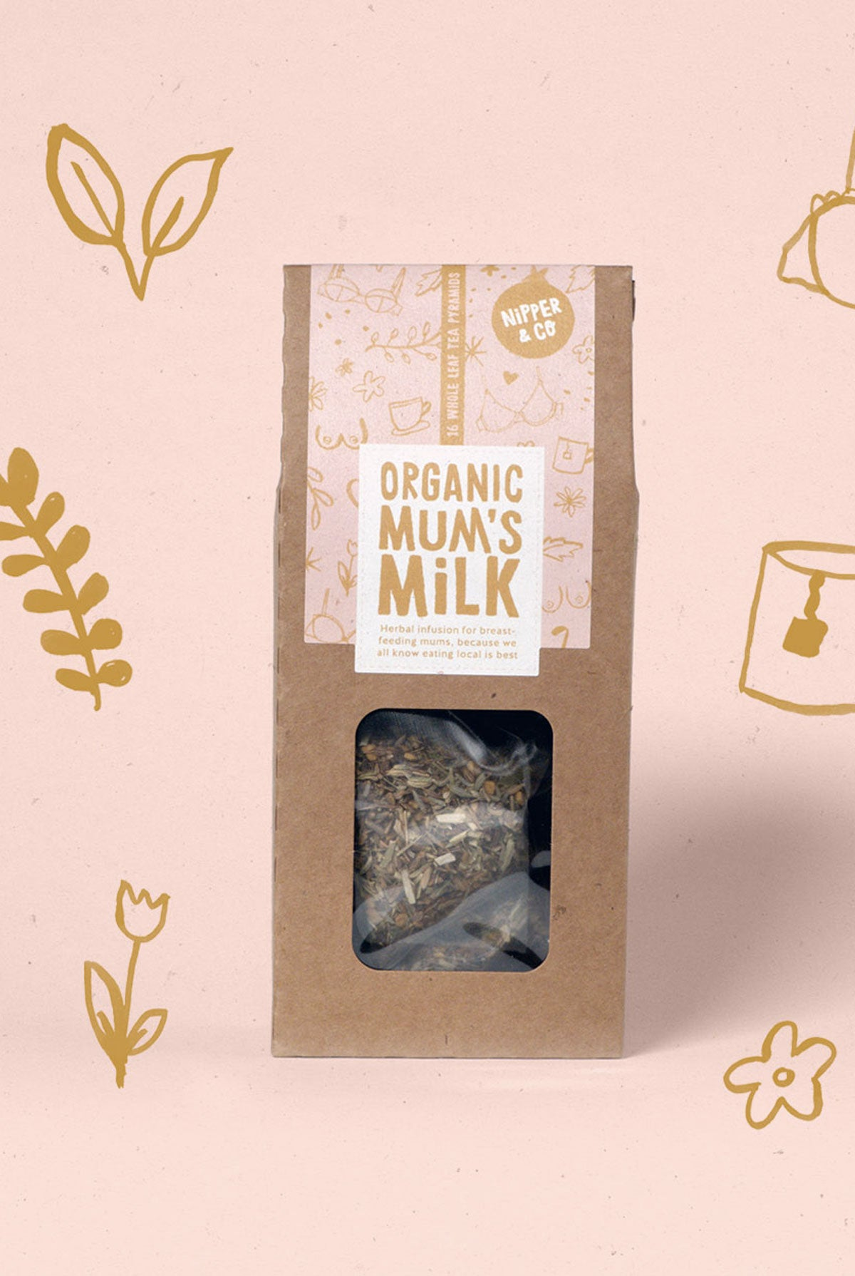 Nipper & Co Organic Mum's Milk - Lactation Tea for Breastfeeding Mothers - One Size