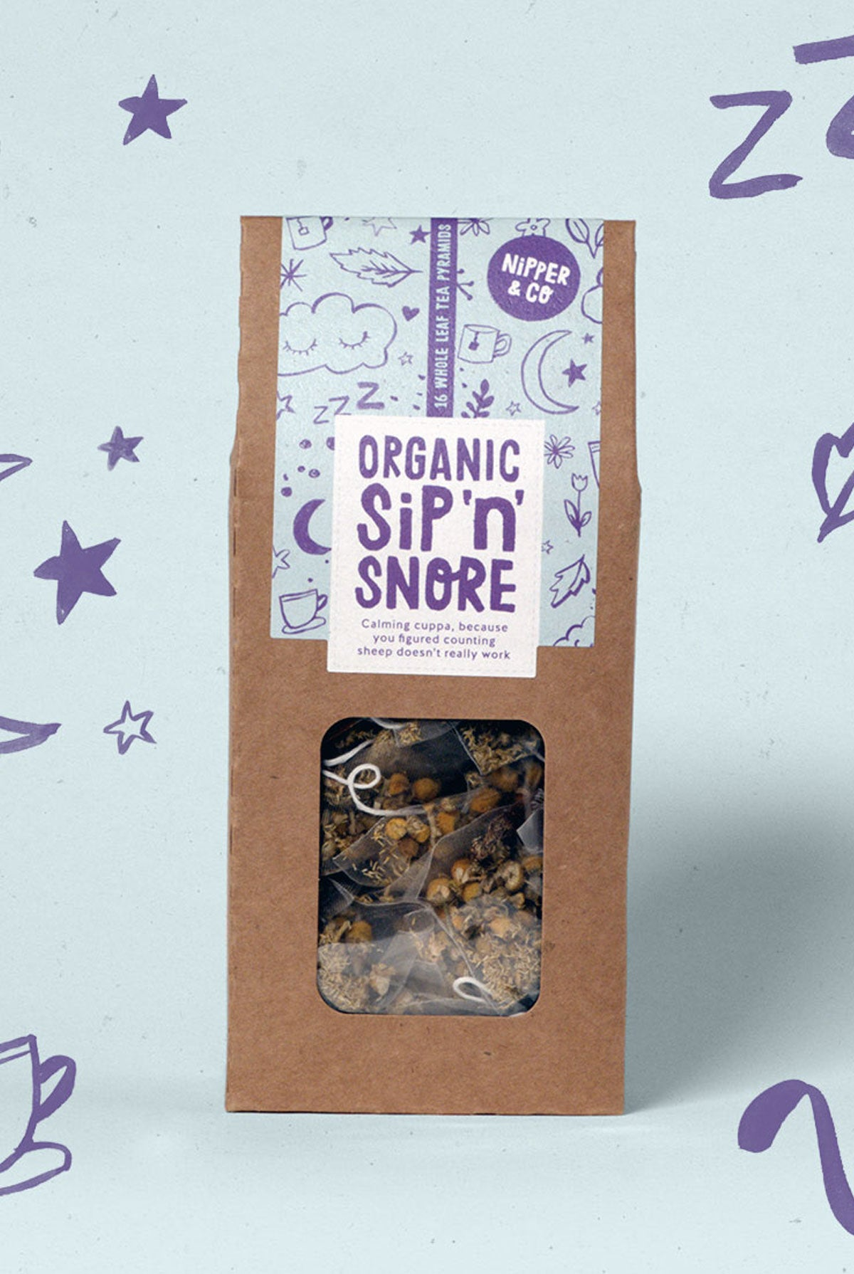 Nipper & Co Organic Sip 'n' snore - For Easy Sleep & Relaxation Tea - One Size