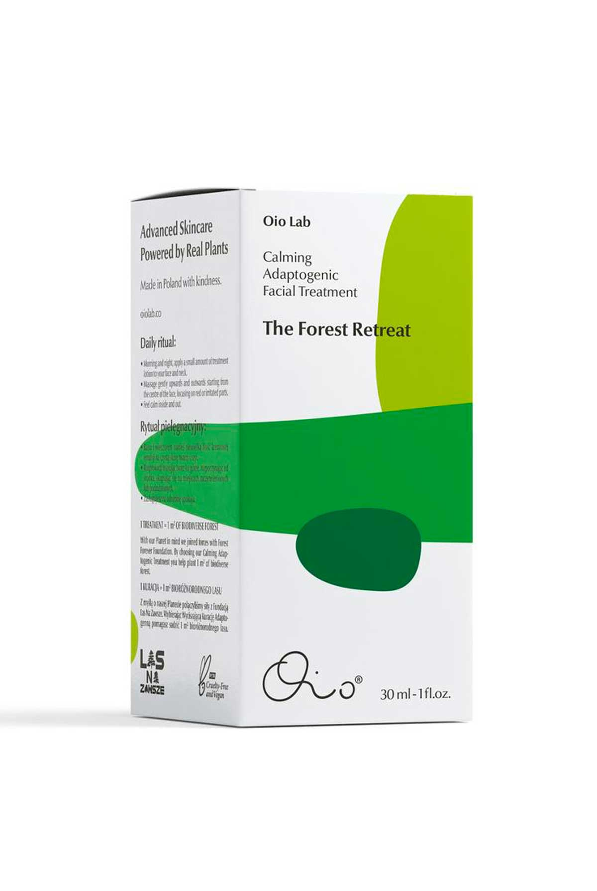 Oio Lab The Forest Retreat - Calming Adaptogenic Facial Treatment - 30ml