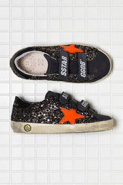 Golden Goose Old School Black Gold Glitter