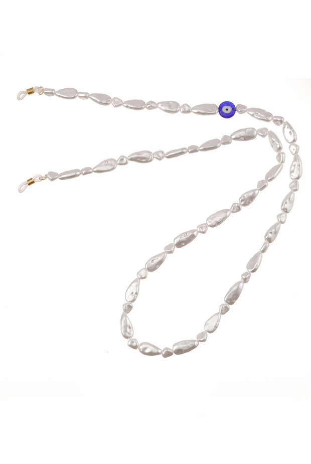 Faux Pearl with Evil Eye by Talis Chains