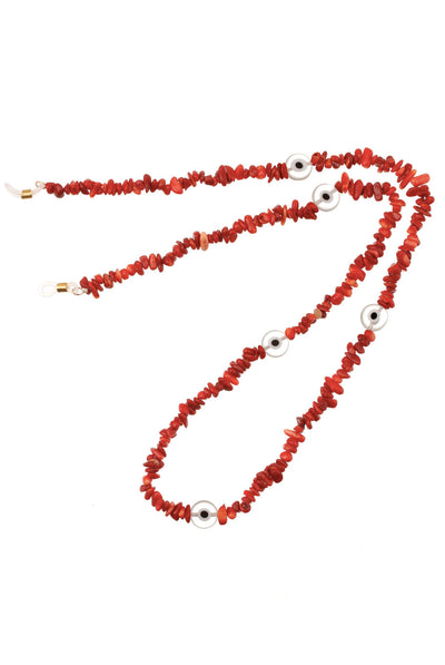 Coral Evil Eye Beads by Talis Chains