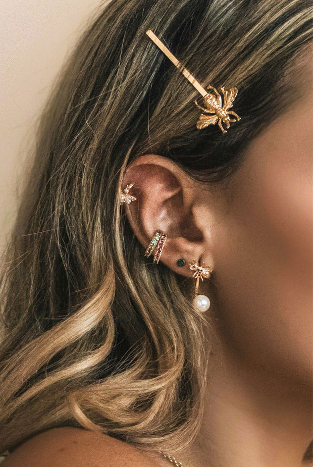 Rosalind Ear Cuff Clear by Camila Carril