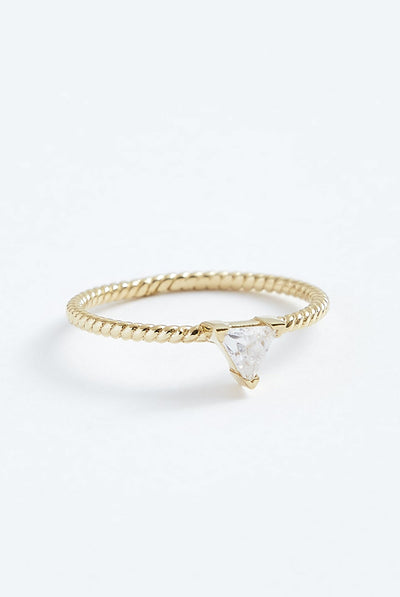 Stephanie Grace Triangle Twist Ring