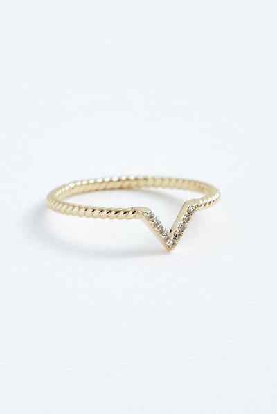 Stephanie Grace Jewellery V Twist ring
