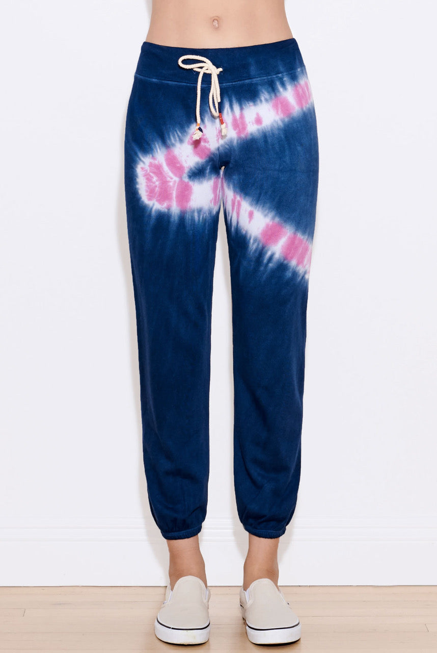 Sundry Tie Dye Basic Sweatpants - 0 Navy Candy