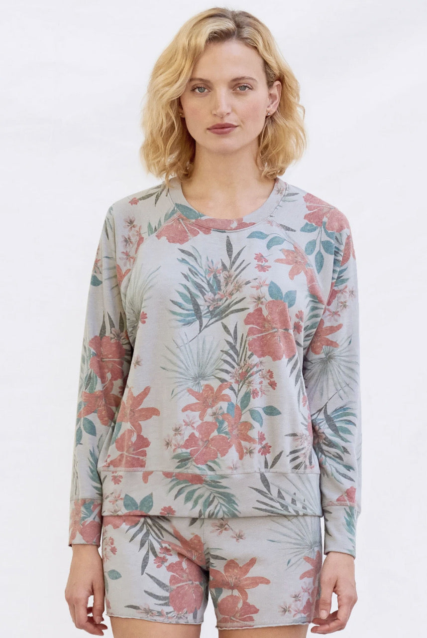 Sundry Tropical Pullover in Lilac - 0 Lilac Multi