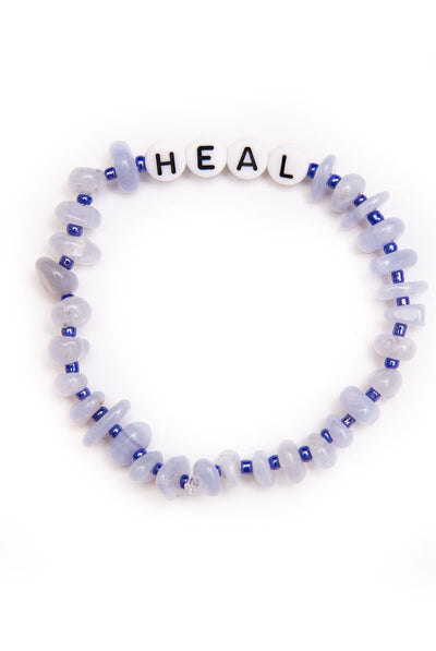 TBalance Heal - Blue Lace Agate Crystal Healing Bracelet