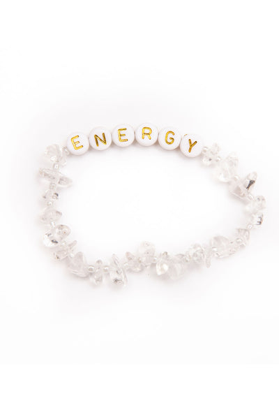 TBalance Energy Gold - Clear Quartz Crystal Healing Bracelet