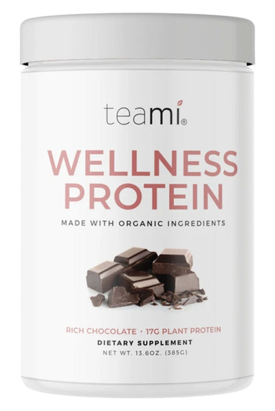 Teami Blends Organic Plant-Based Wellness Protein, Rich Chocolate