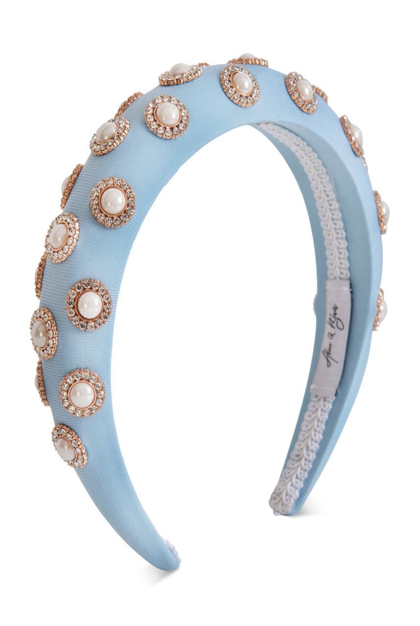 Alice & Blair Sienna Headband Blue - Blue