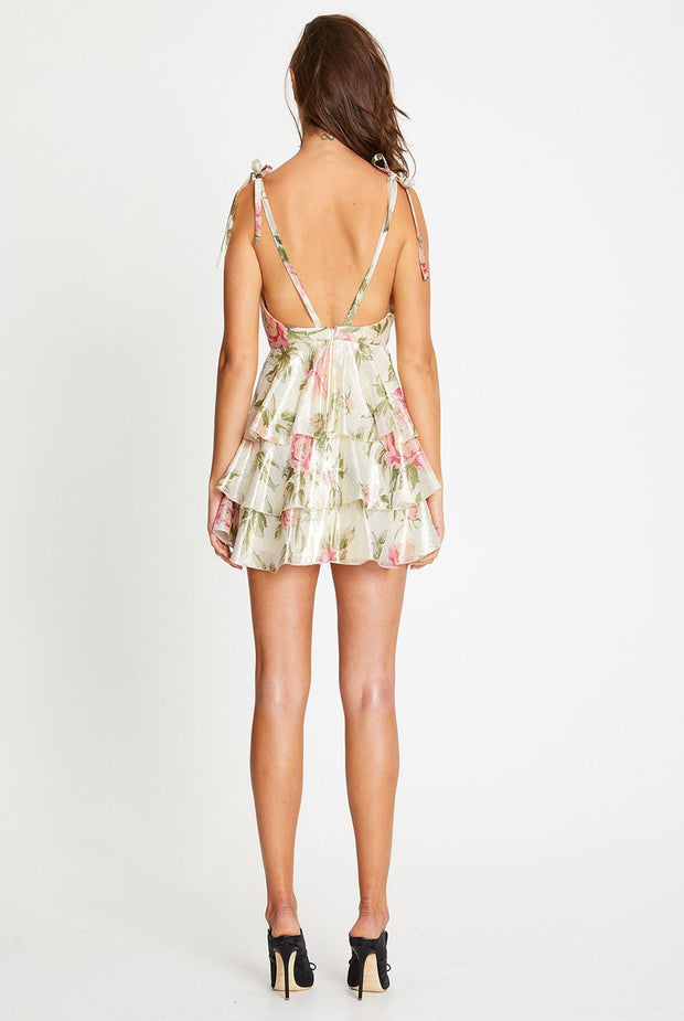 Oxygen Boutique Alice McCall Salvatore Mini Dress Floral Gold