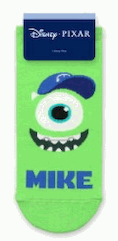 Mike de Monsters Inc. Calcetines divertidos, cortos para niños y niñas