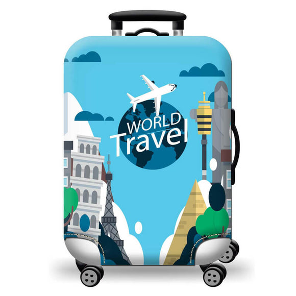 World Travel - Funda para Maleta - PrimeFun