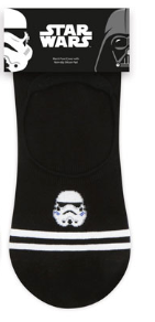 Star Wars con rallas y logo head (invisible) – Character Sock