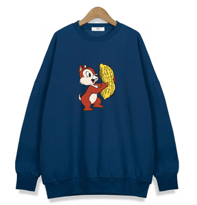 Chip and Dale (Azul) - Sudadera Original Disney - PrimeFun