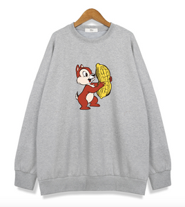 Chip and Dale (Gris) - Sudadera Original Disney - PrimeFun