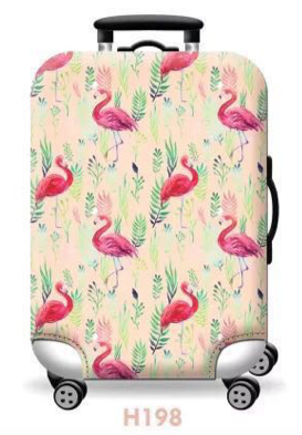 Flamingos (Natural) - Funda para Maleta - PrimeFun
