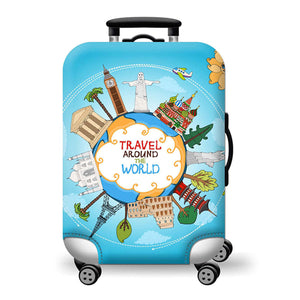 Viaje por el mundo (Travel Around the World)  - Funda para Maleta - PrimeFun