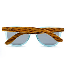 Load image into Gallery viewer, Blue Polarized Wooden Sunglasses