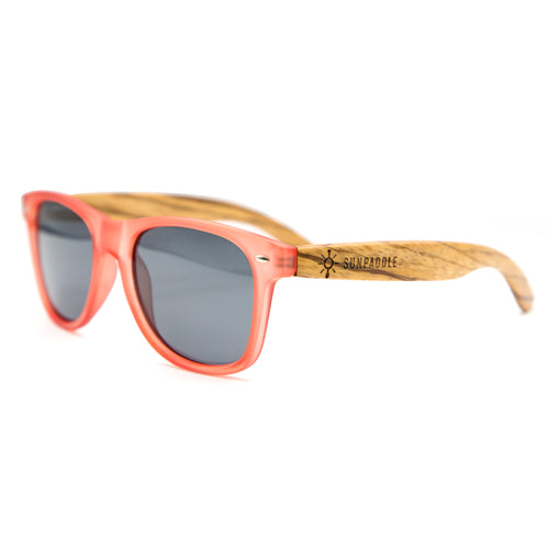 Classic Red Polarized Wooden Sunglasses