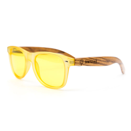 Yellow Polarized Wooden Sunglasses
