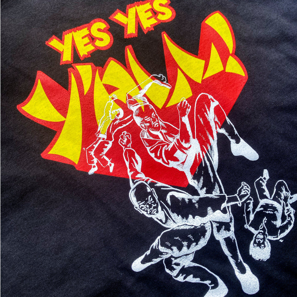 YES YES Y'ALL Suede T–Shirt