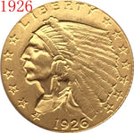 1926 $2.5 GOLD Indian Half Eagle Coin