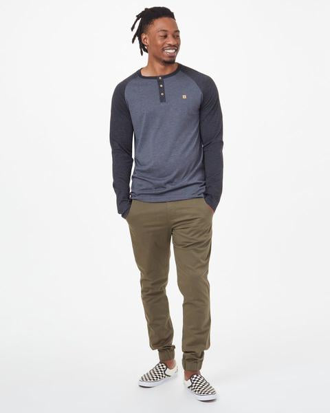 TCM2308 TENTREE M Henley L/S Tee