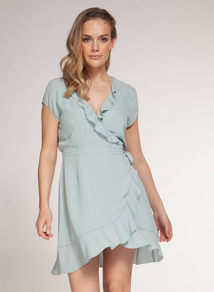 1522336 S/Slv Wrap Dress