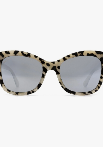 LE-GF151 DIFFGLASSES Leopard Grey Mirror Sunglasses