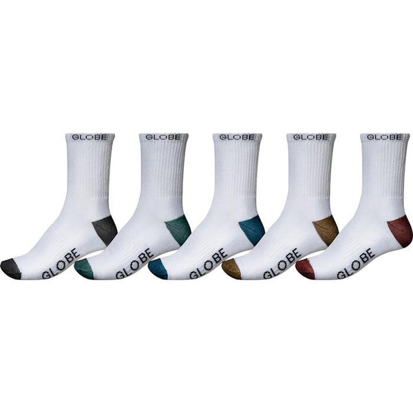 GB71539023 GLOBE Ingles Crew 5 Pk Sock
