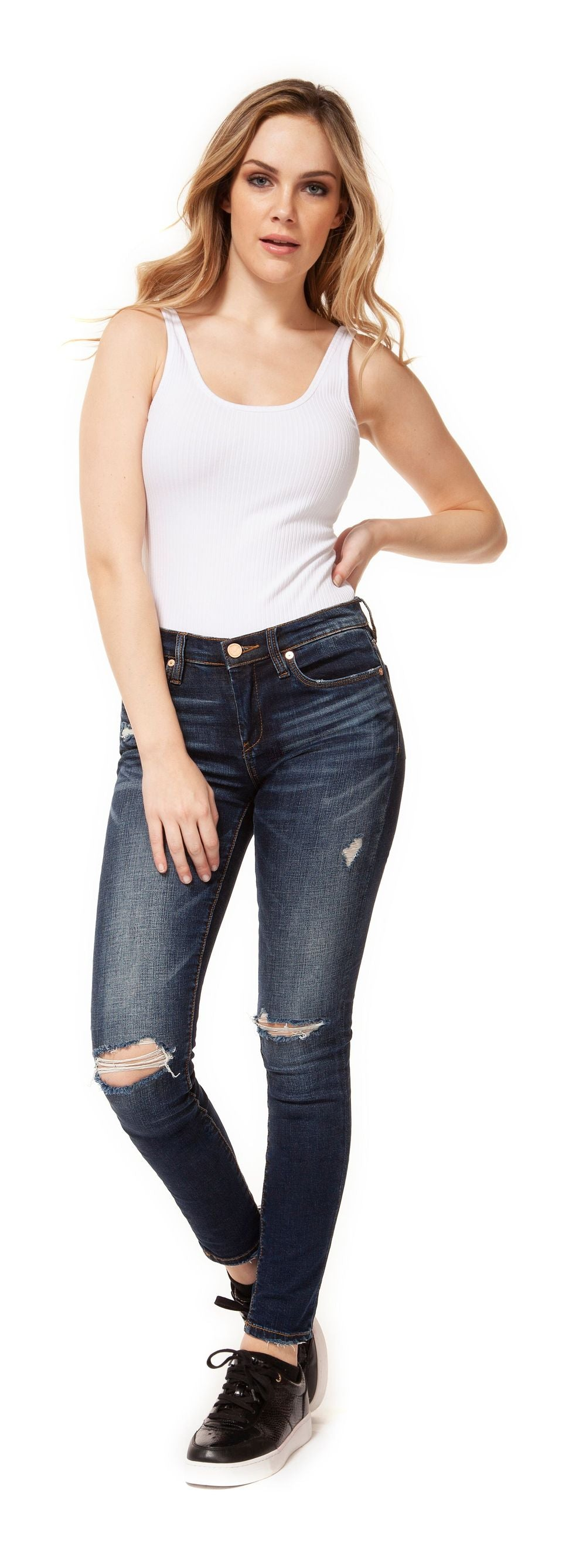 Dex 1422851 Reg Rise SLim Ripped Jean