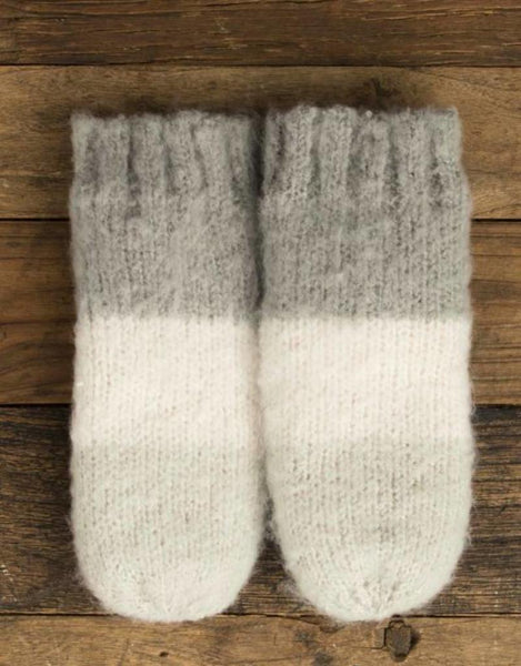 CW-4060 Brushed Color Block Mitten