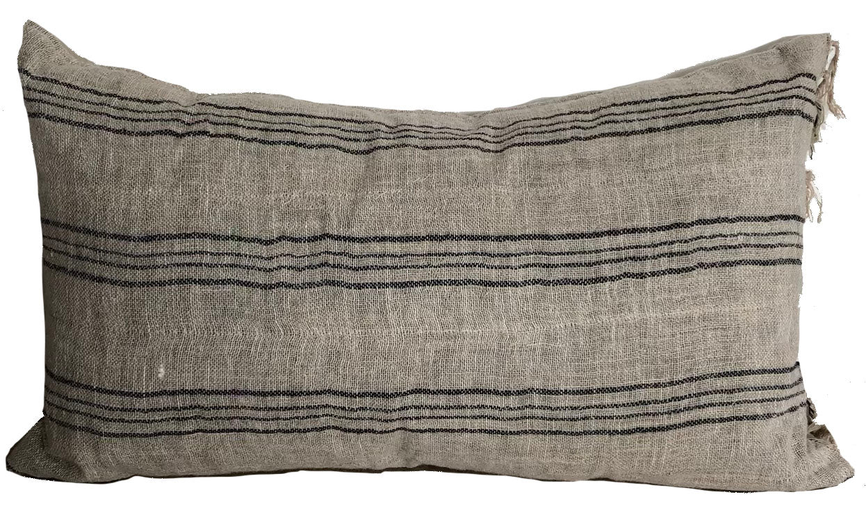 Indian Linen with Fringe Lumbar